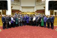 Молодые парламентарии на борту ледокола