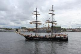 7 ИЮЛЯ Дружественный визит членов экспедиции учебного парусника Бриг
