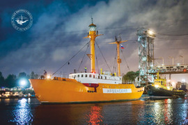 15 декабря 2017 г. в Музее Мирового океана прошло торжественное открытие отреставрированного плавмаяка «Ирбенский»
