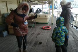 8-10 марта 2018 года ледокол «Красин» поздравлял женщин с 8 марта