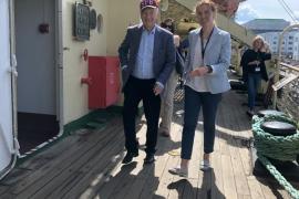 Композитор Родион Щедрин посетил ледокол