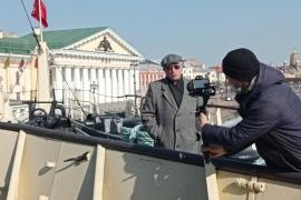 Легендарный джазмен Давид Семенович Голощекин посетил ледокол